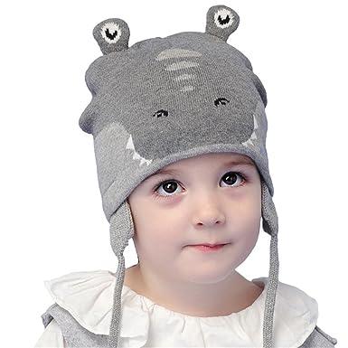 Bonnet Tricot Crocodile Gamin Bébé Fille Garçon Chapeau Automne Hiver  Casquette Oreille 7360bb5daf5
