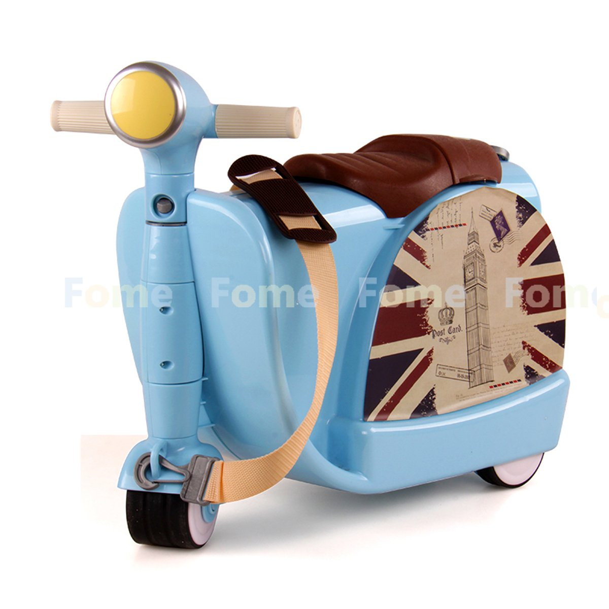 Amazon.com: FOME Ride-On Suitcase Children's Multifunction Luggage ...