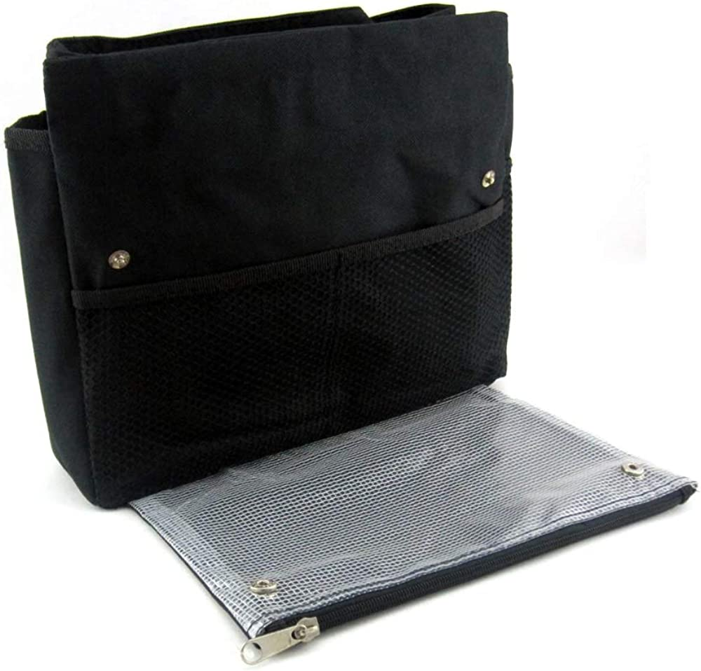 Periea 'Tera' Large Handbag Organizer Insert with Pocket for Notebooks, iPads, Tablets or Small Laptops
