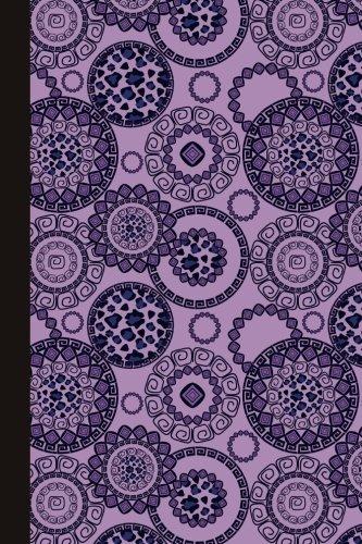 Journal: Animal Print Mandala (Purple) 6x9 - GRAPH JOURNAL - Journal with graph paper pages, square grid pattern (Mandala Design Graph Journal Series)