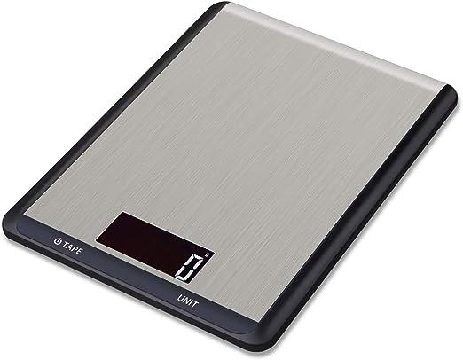 Hotchy Digital Báscula con Pantalla LCD para Cocina de Acero ...