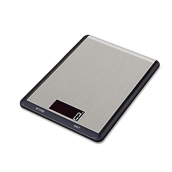 Hotchy Digital Báscula con Pantalla LCD para Cocina de Acero Inoxidable, 5kg/1lbs,Balanza de Alimentos Multifuncional, Peso de Cocina, Color Plata ...