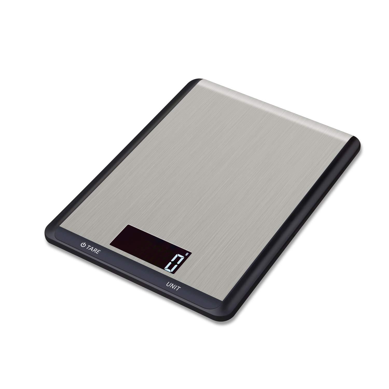 Hotchy Digital Báscula con Pantalla LCD para Cocina de Acero Inoxidable, 5kg/1lbs,