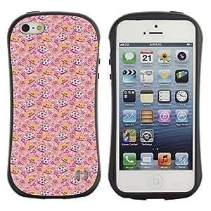 DesignCase Premium TPU / ABS Hybrid Back Case Cover Apple iPhone 5 / 5S ( tea cup )