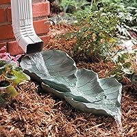 Palos Designs Decorative Downspout Splash Block, Leaves Design, Polyresin, Gutters And Downspout Extension