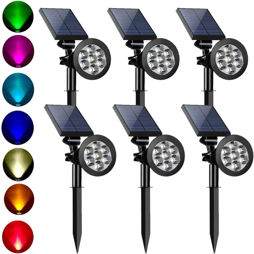 Wireless 7 Colors LED Solar Garden Light Outdoor Waterproof Lamp Spike Spotlight