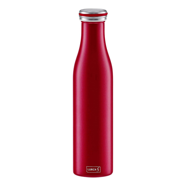 Lurch 240926 Thermoflasche Thermo-Flasche f/ür hei/ße und kalte Getr/änke aus Doppelwandigem Edelstahl 0,75l,