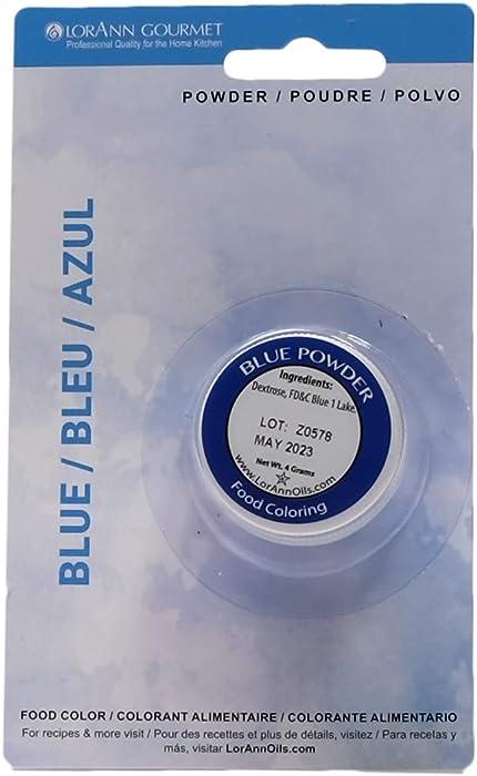 LorAnn Blue Powder Food Color 1/2 ounce jar - Blistered