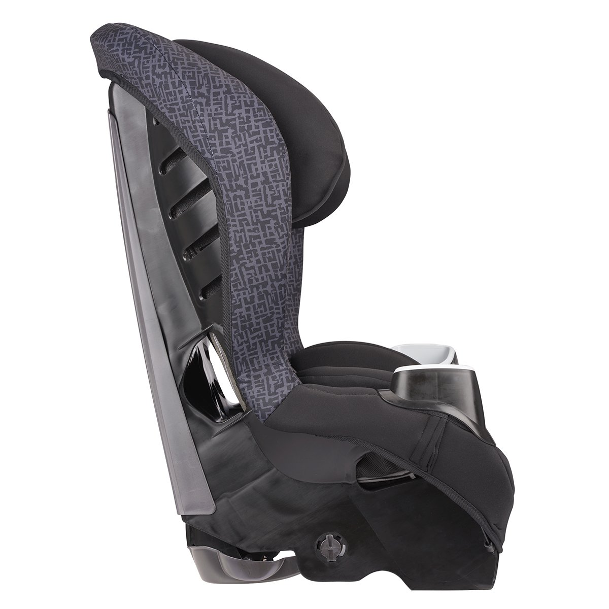 Evenflo Stratos 65 Convertible Car Seat, 2 Car Seats in 1, Forward Rear Facing Car Seat, Air Flow Vents, Removable Body Pillow, Rollover-Tested, Quick-Connect LATCH Hooks, Boulder Gray