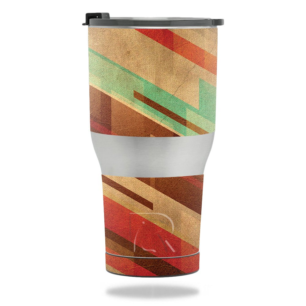MightySkins Skin for RTIC Tumbler 30 oz. (2017) - Abstract Wood | Protective, Durable, and Unique Vinyl Decal wrap Cover | Easy to Apply, Remove, and Change Styles | Made in The USA