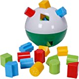 CifToys Educational Shape Sorter Ball Kids Toys | Develop Fine Motor Skills, Have Fun, Learn About Shapes & Colors (Green-White)
