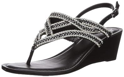 94a019eebec Fergalicious Women s CRUSH2 Wedge Sandal Black 10 ...
