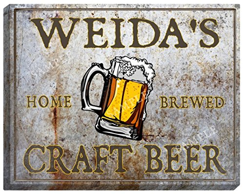 Weidas Craft Beer Stretched Canvas Sign   24  X 30