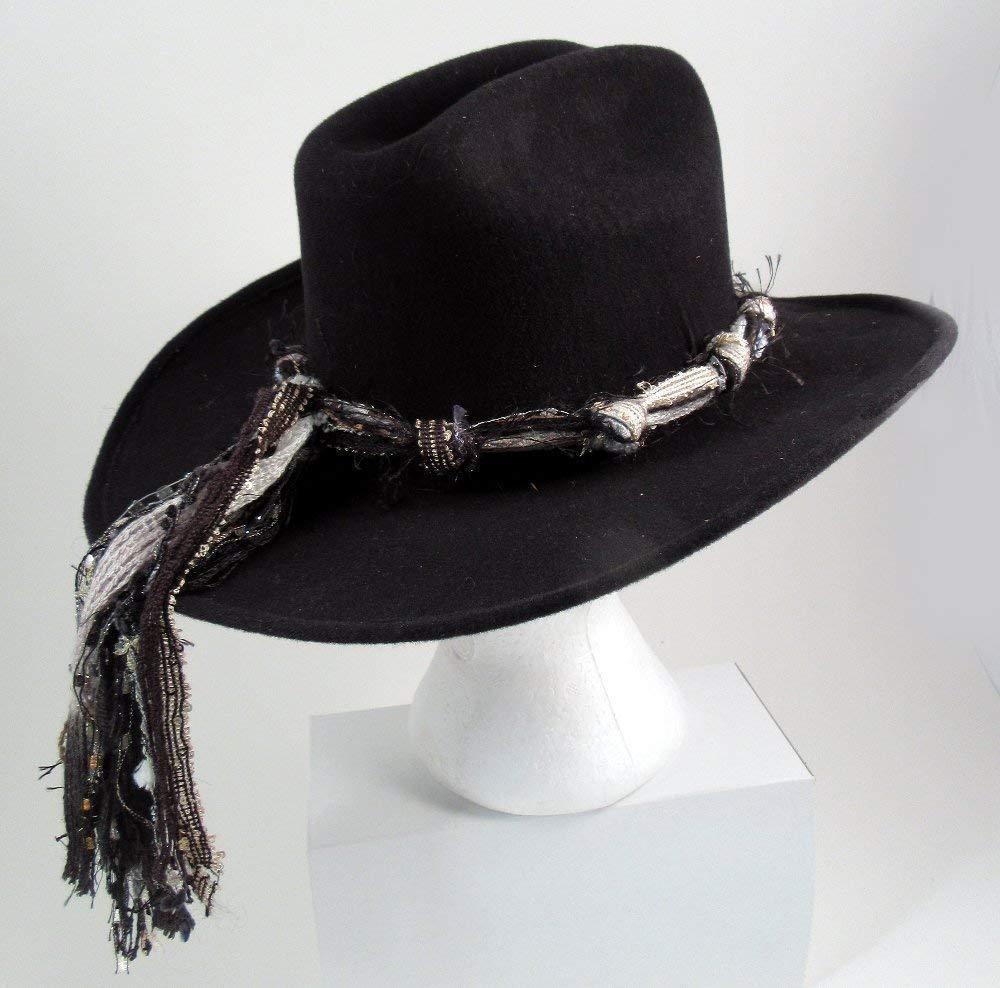 Ladies Western Cowgirl  Black Hat Women/'s