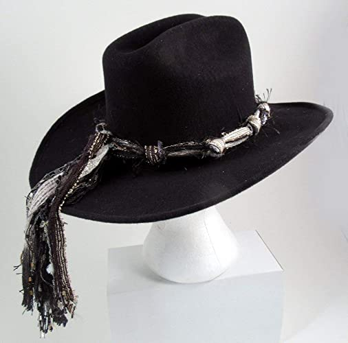a3575bfc6f6435 Amazon.com: Western Hat Bands for Women, Black White Hat Band, Cowgirl Hat  Band, Adjustable Hat Band, Hat Band Only (Cowboy Hat Not Included): Handmade