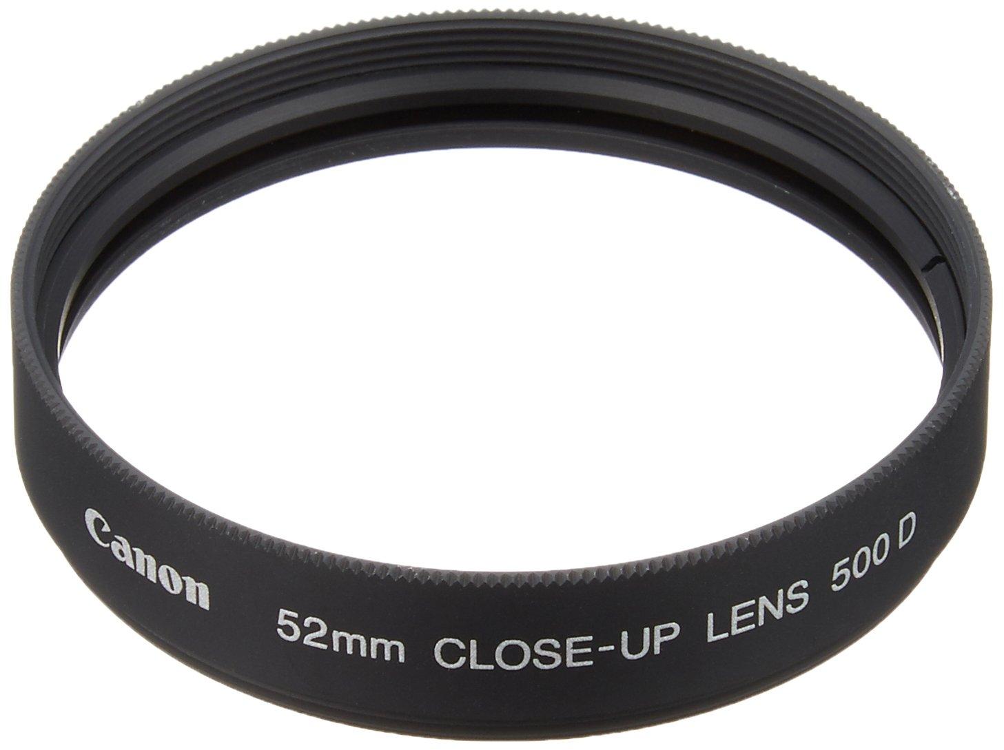 Black Canon 2822A001AA Lens Close-up Lens Attachment 500D 58mm