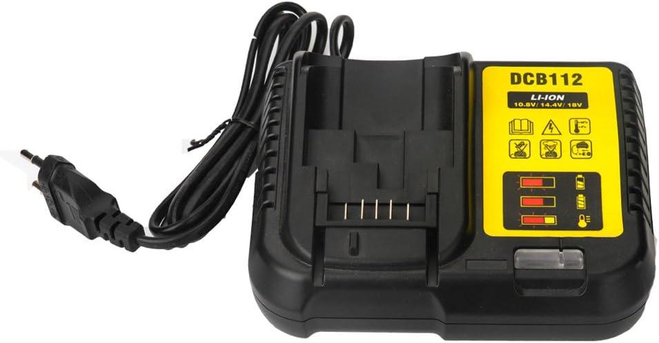 Para Dewalt DCB112 DCB115 DCB105 Cargador de batería de iones de litio 10.8V 12V 14.4V 18V 20V DCB101 DCB200 DCB140 DCB200