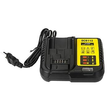 Para Dewalt DCB112 Cargador de batería de iones de litio 10.8V 12V 14.4V 18V DCB101 DCB200 DCB140 DCB105 DCB200