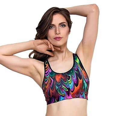 8e8b68dfbe Lauma Active Multicolor Sports Bra Stretch Fit at Amazon Women s ...
