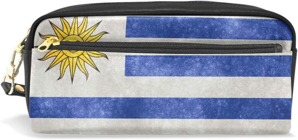 Estuche de piel con diseño de la bandera de Uruguay: Amazon.es ...