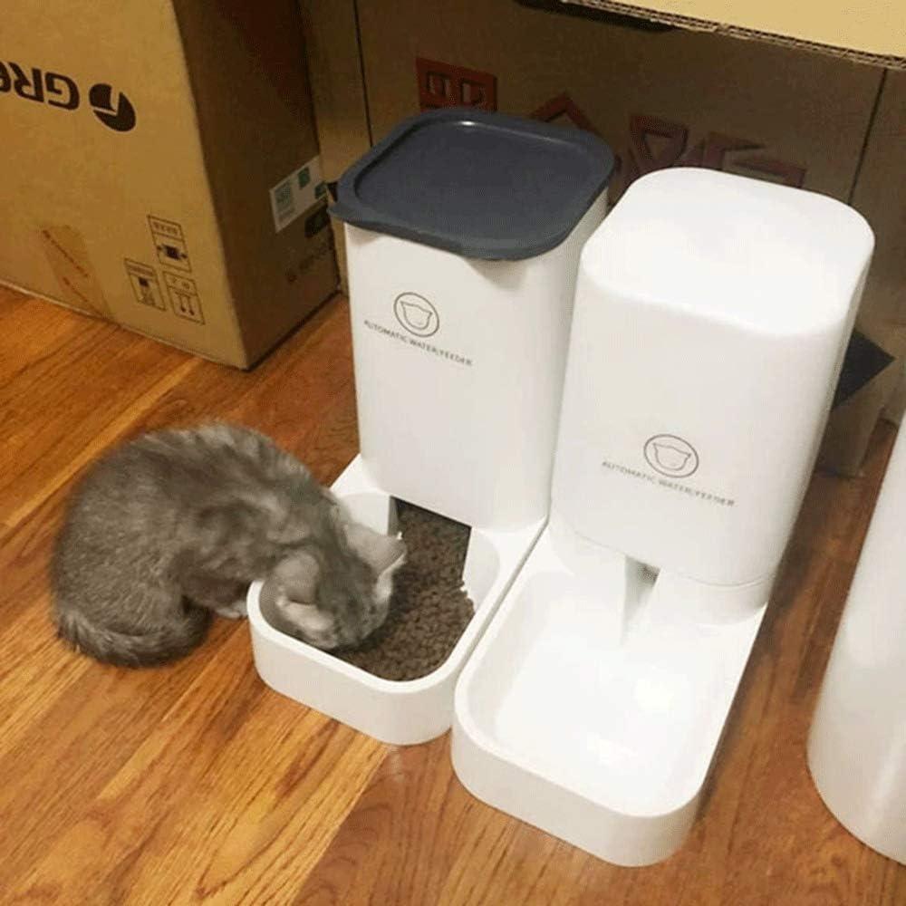 MBY Comederos Automáticos de Alimentos, Dispensador de Agua Automático para Mascotas-de Gatos/Perros-3.8L(2 Piezas): Amazon.es: Productos para mascotas