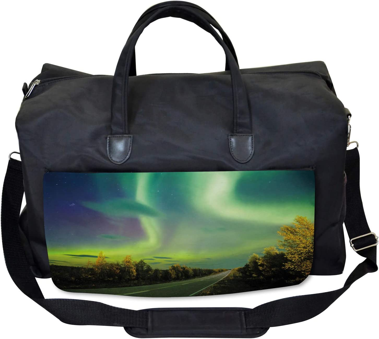 Nordic Rays of Sun Large Weekender Carry-on Ambesonne Surreal Gym Bag