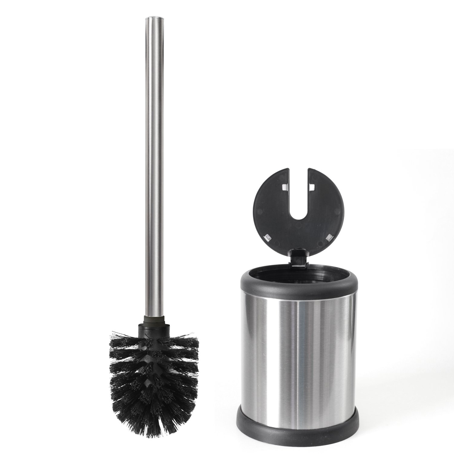 Bathroom and toilet accessories - Toilettree Products Toilet Brush With Lid Stainless Steel