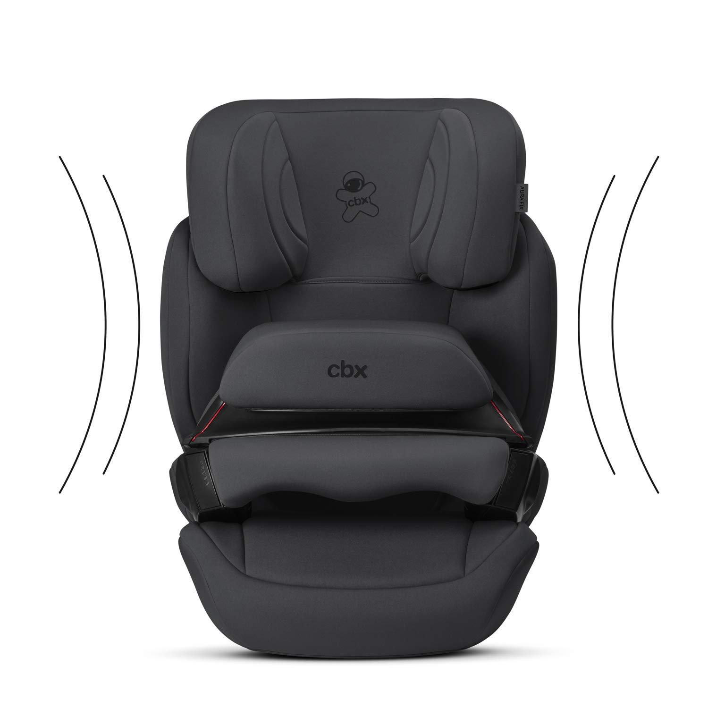 Gruppe 1//2//3 Ab ca F/ür Autos mit und ohne ISOFIX 12 Jahre 9 Monate bis ca Comfy Grey cbx Kinder-Autositz Aura-Fix 9-36 kg