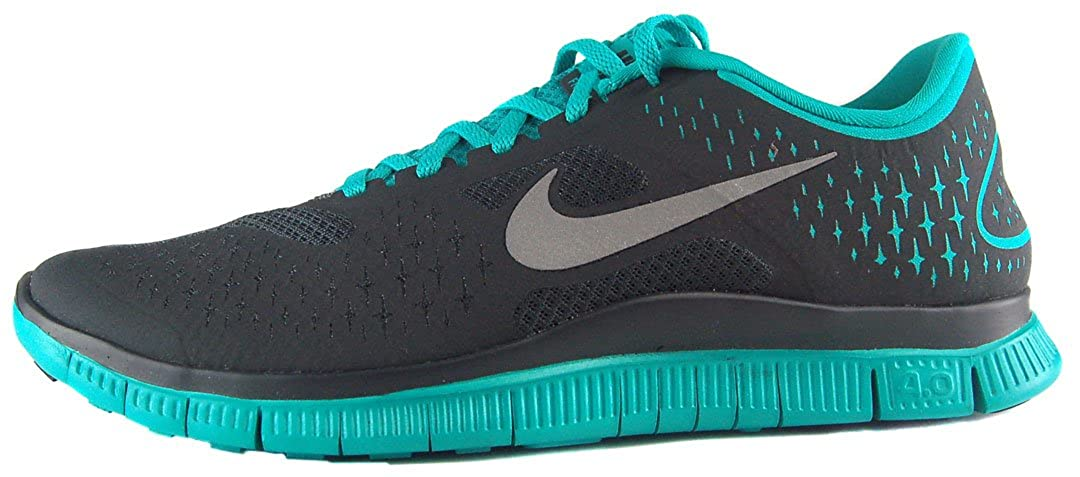 detailed look f19a7 ae1a7 Amazon.com   Nike Free 4.0 v2 Mens Running Shoes Anthracite Reflective  Silver-New Green 511472-003-11.5   Shoes