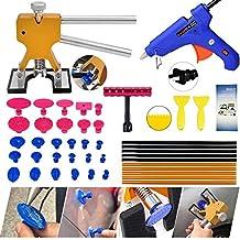 Dent Puller Tools,Gliston Auto Body Dent Repair Kits Paintless Dent Removal Tools - Dent Lifter - Glue Sticks- Glue Gun -Pro Glue Tabs -Mini T bar for Car Auto Body Repair Tool Dent Puller