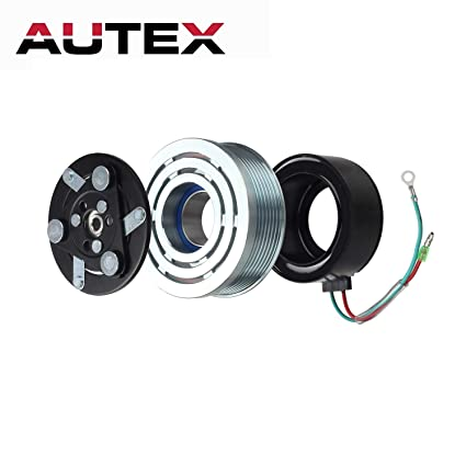 AUTEX AC A/C Compressor Clutch Coil Assembly Kit 80221SWAA02 38810RRBA01  4918U1 Replacement for Honda Civic 2006 2007 2008 2009 2010 2011 1 8L