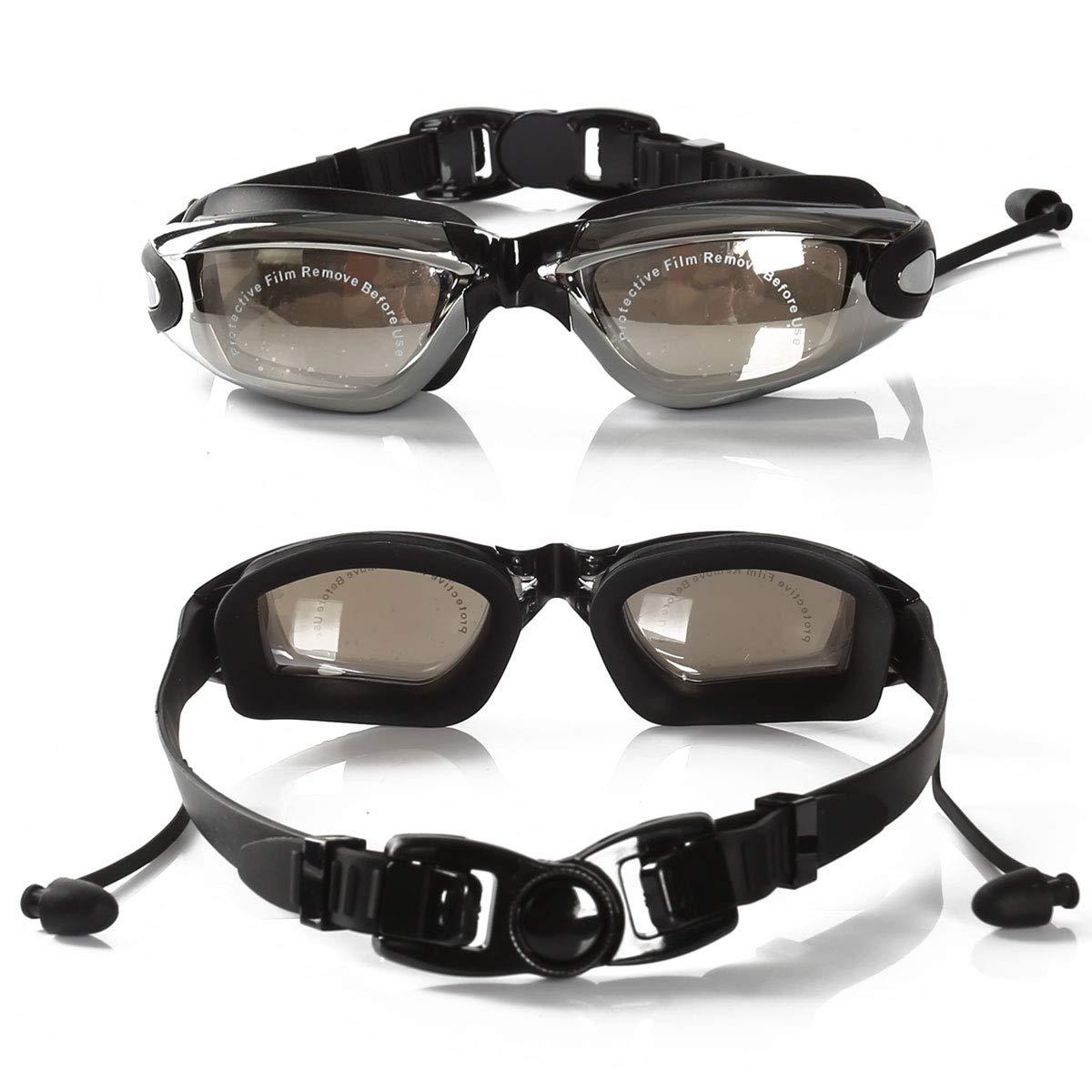 SPOTACT Gafas de Nataci/ón Transparente Anti Niebla Protecci/ón UV Sin Fugas Lente Transparente Gafas de Nataci/ón de Moda para Adultos Hombre//Mujer Adolescentes Ni/ños