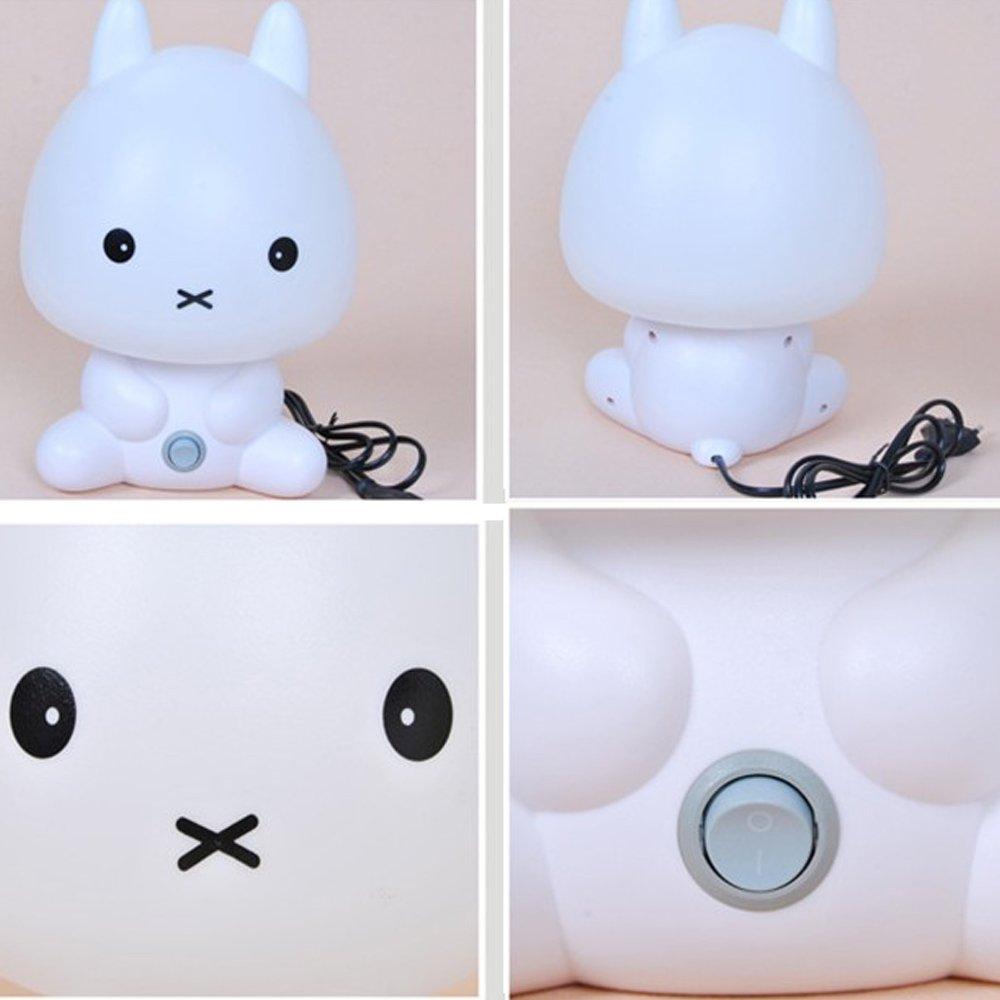 Amazon.com : Coffled Baby Kids Bedroom LED Rabbit Night Light Bunny Cartoon  Animal Desk Table Lamp Gift : Baby
