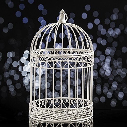 Decorative Bird Cage Centerpiece-White