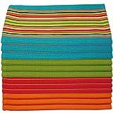Kitchen Dish Towels Salsa Stripe - 100% Natural
