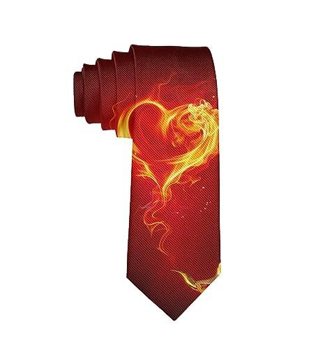 MrDecor Fire Flame Corbata de Amor con Forma de corazón - Corbata ...