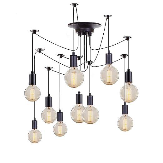 Neilyn Retro loft fai da te spider lampadario lampada a soffitto stile  industriale antico regolabile E27