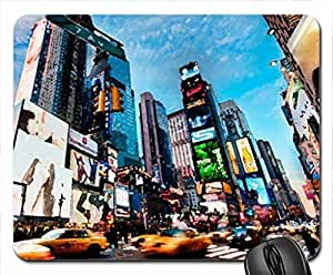 bustling times square in nyc Mouse Pad, Mousepad (Skyscrapers Mouse Pad, 10.2 x 8.3 x 0.12 inches)