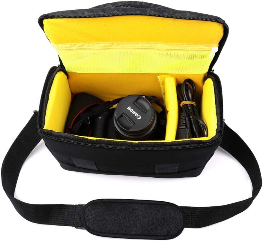 LOTONJT Shockproof Camera Bag Waterproof SLR Camera Backpack Adjustable Camera Rucksack Large Capacity Micro Camera Bag Nylon Black for Sony Nikon
