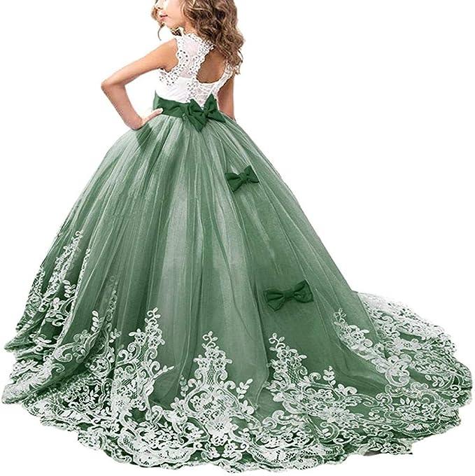Mädchen Prinzessin Kleid Ballkleid Kleid Party Festkleid Hochzeit Blumenmädchen