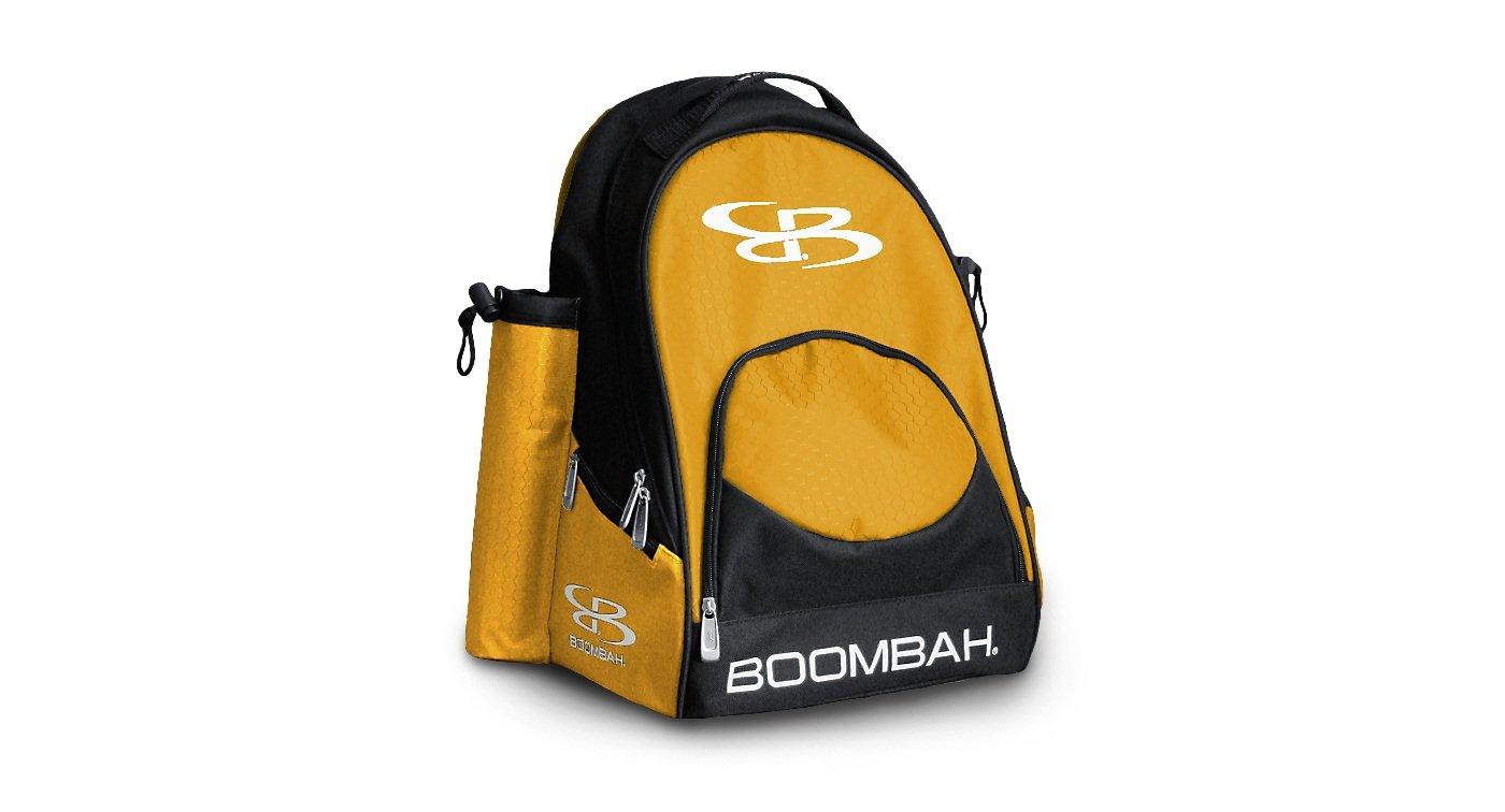 Boombah Tyro 野球/ソフトボールバット収納 バックパック - 20 x 15 x 10インチ - 55色展開 2-3/4インチまでのバットを2本まで収納 B01NBE4DP7 ブラック/ゴールド ブラック/ゴールド