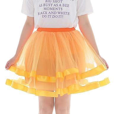 XNBZW Falda tutú de tul para adulto, falda de tutú para disfraz ...