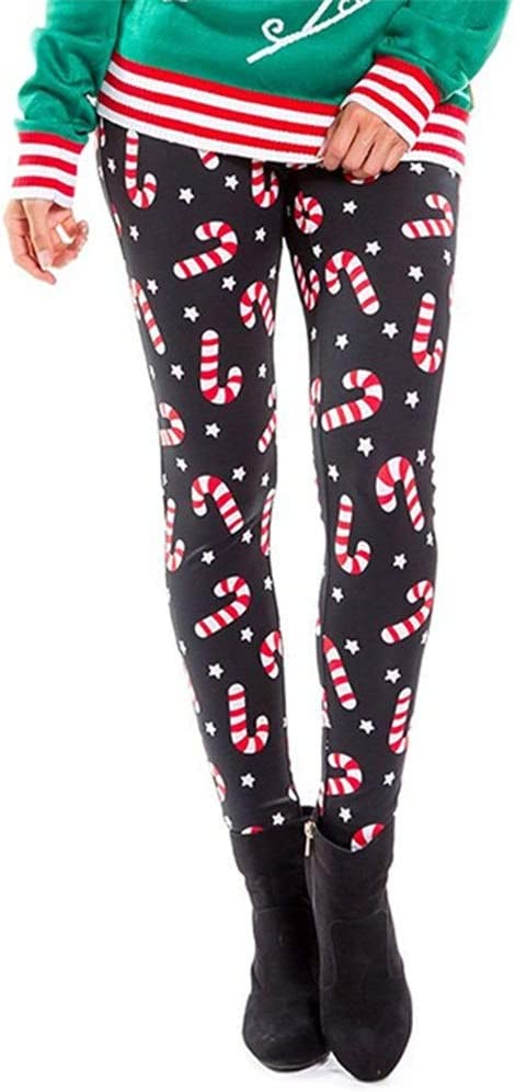 Womens Outdoor Capris Fitness Tights Women S Christmas Cane Star Print Leggings Funny Costume Stretchy Tights Skinny Yoga Pants Sports Workout Trousers S 4xl Athletic Walking Running Stretch Legging Amazon Co Uk Kitchen Home