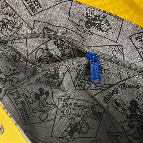 Ililily Cotone Borsa Spalla Gialla Mouse Di Del Piccola Mickey Disney Bag Messenger Tela fqwrfS