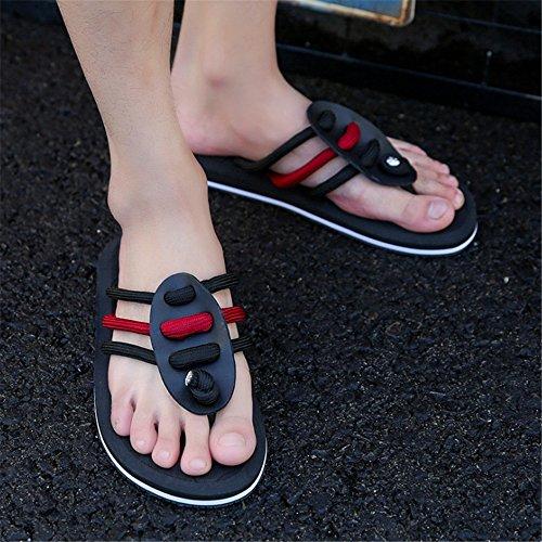 pantofole Pantofole EU 41 Tempo Colore Estivo Da Nero Spiaggia Pantofola da Da Libero Nero spiaggia Traspirante Il Per Dimensione Wagsiyi Pantofola 3 Uomo Scarpe 1 dRwqgtxd