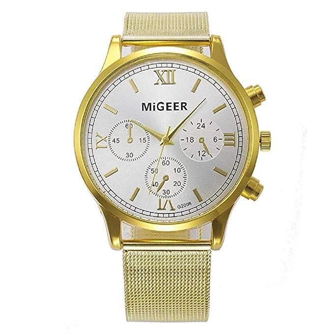 Scpink Mujeres Relojes de Cuarzo Liquidación Relojes analógicos para Mujer Relojes de Acero Inoxidable Relojes Femeninos (Dorado): Amazon.es: Relojes