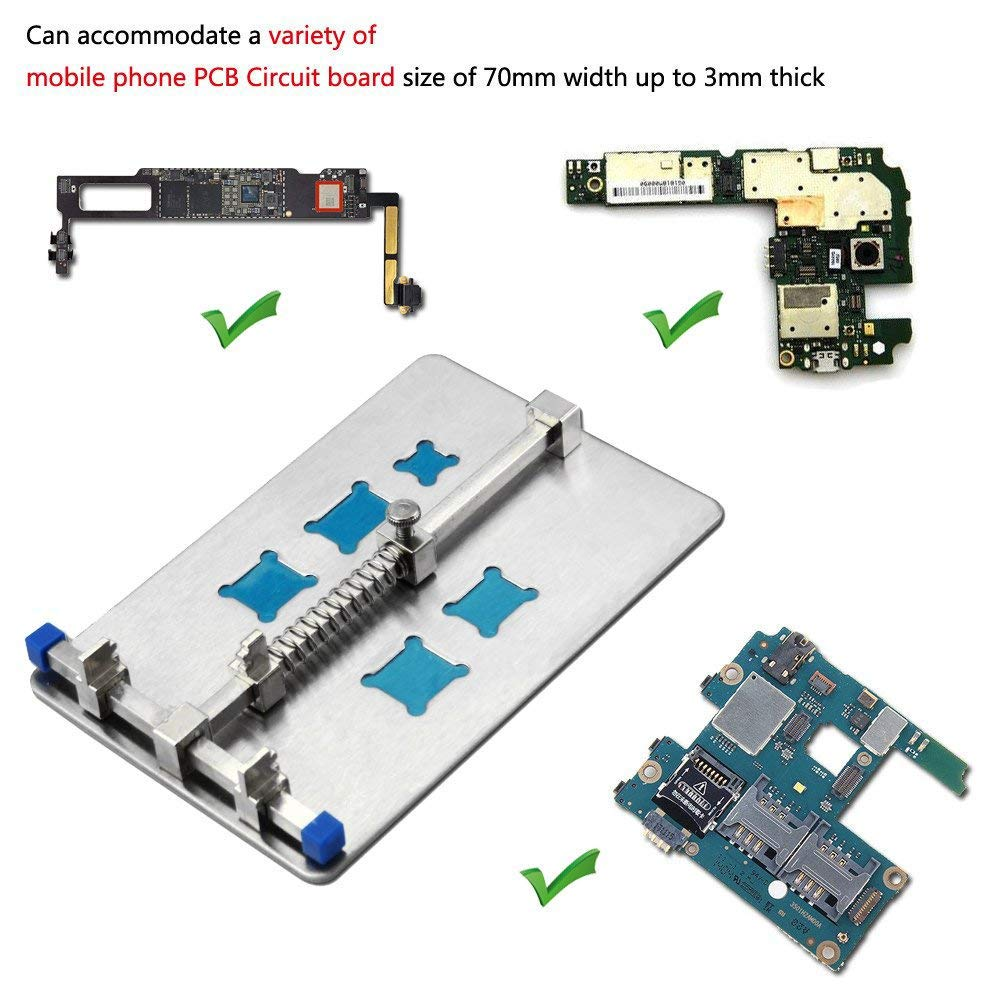 Tkdmr Sliver Adjustable Mobile Phone Pcb Circuit Board Holder With 5 Buy Home Theater Boardcircuit Boards Orderpcb Kinds Of Ic Grooves Repair And Soldering
