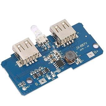 Nitrip 18650 Batería Dual USB micro 3.7V a 5V 2A LED Aumento ...