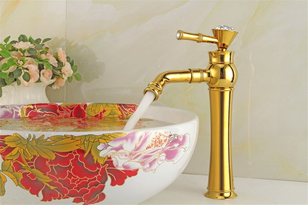 Hlluya Professional Sink Mixer Tap Kitchen Faucet The tap gold plated surface basin faucet hot and cold fast on tap.