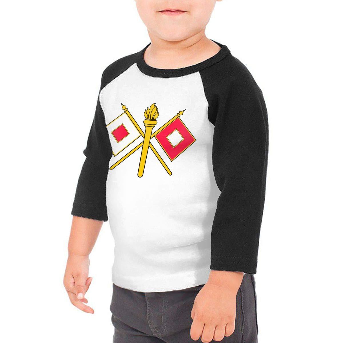 US Army Signal Corps Kids Jersey Raglan T-Shirt Children 3//4 Sleeve Baseball Shirt Top
